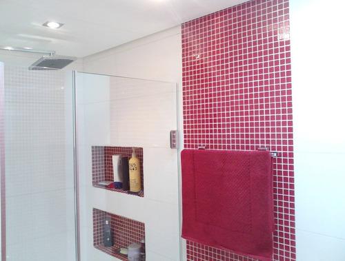 pastilhas adesivas - banheiro - faixas azulejos - stick home