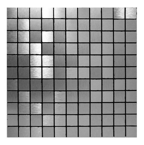 pastilhas adesivas parede metalizada prateada 30cmx30cm d50