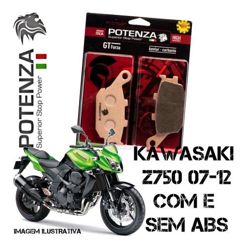 pastilhas freio traseira potenza kawasaki z 750 07-12 174