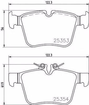 pastilhas+sensor freio original traseira mercedes c180 2015