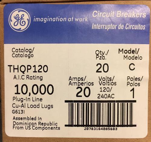 pastilla eléctrica general electric thqp 120