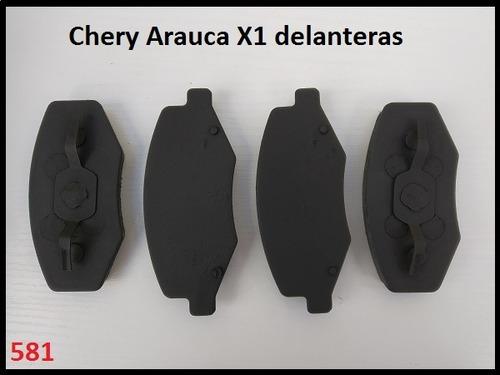 pastilla freno chery arauca x1 delanteras (581)