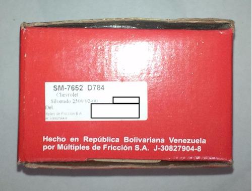 pastilla freno silverado 2500 delantero mamusa 00-02