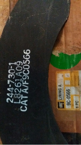 pastilla frenos caterpillar 9c-0566 nuevas