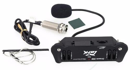 pastilla para guitarra, bajo sexto con micrófono condensador
