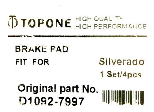 pastilla tahoe silverado avalanche delantera 2007 - 2014