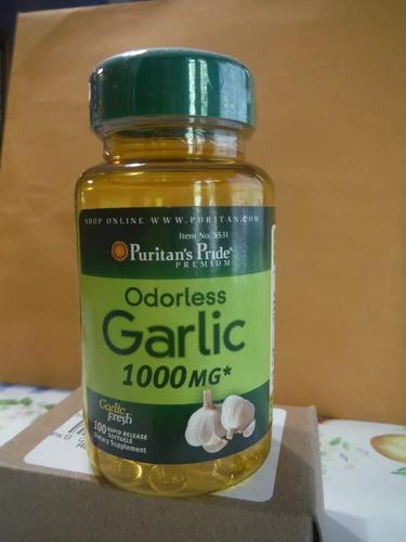 pastillas de ajo de 1000 mg marca puritan's pride importado