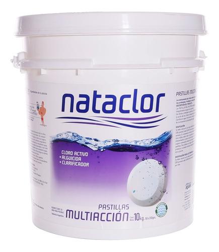 pastillas de cloro multiacción 200gr de 10kg nataclor