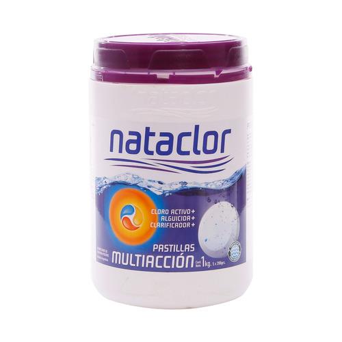 pastillas de cloro multiacción 200gr de 1kg nataclor rinde +