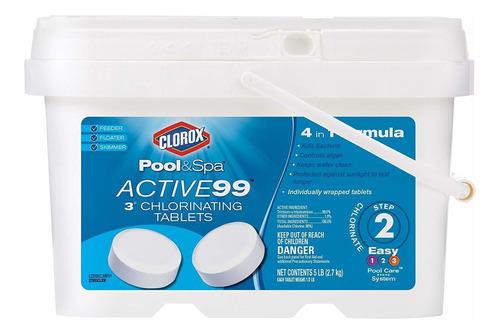 pastillas de cloro para piscina y spa 99 unidades clorox