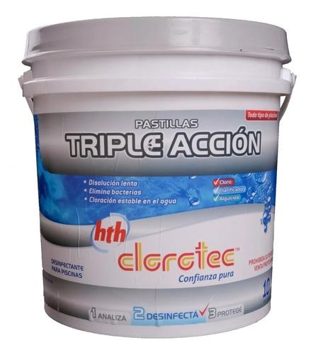 pastillas de cloro triple acción clorotec 4 kg universo