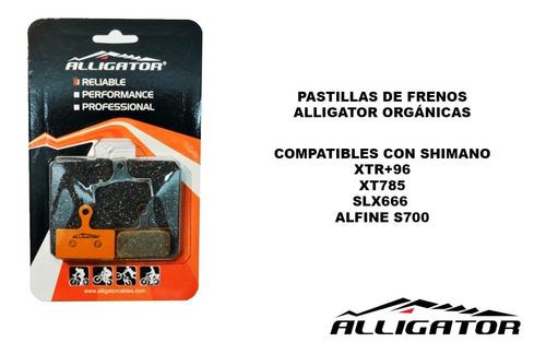 pastillas de freno alligator organicas vx055+