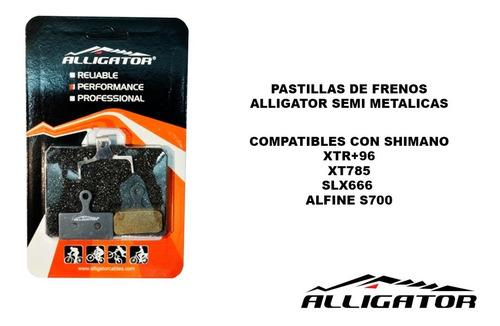 pastillas de freno alligator semi metalicas bp055+