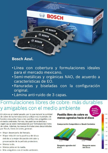 pastillas de freno bosch original - dodge journey