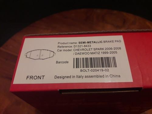 pastillas de freno del. chevrolet spark 06/08 8433 marussi