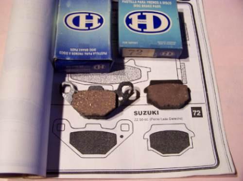 pastillas de freno hd -  suzuki zz 50 cc perno derecho