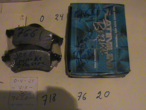 pastillas de freno para jeep cherokee 7661 trasera