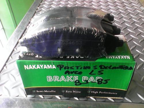 pastillas delanteras aveo ls y optra marca nakayam96534653