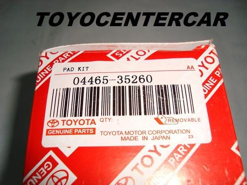 pastillas freno del. original toyota  autana burbuja machito