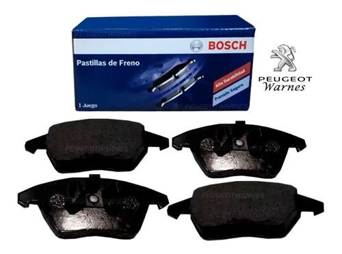 pastillas freno delanteras bosch peugeot 307 2.0 coupe 180hp