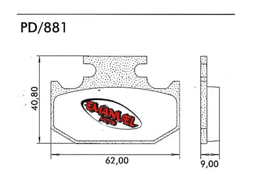 pastillas freno frasle pd881 suzuki dr 350 s 90-93