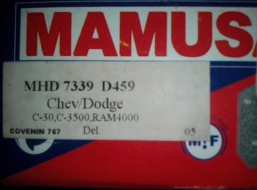 pastillas frenos chev d459 7339, c-30/c-3500