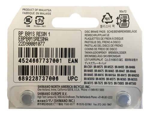 pastillas frenos de disco shimano originales b01s resina