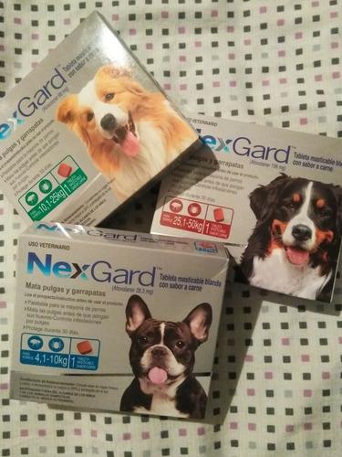 pastillas nexgard antipulgas y garrapatas para perros.