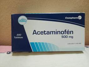 Pastillas Para Frenos Acetaminofen 500mg Caja De 300