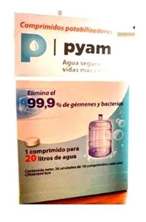 pastillas para potabilizar agua de 20 lts