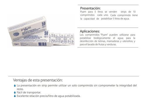 pastillas potabilizadoras de agua pyam x 1 blister de 10comp