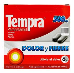 Pastillas Tempra 100 Tabs 500mg Paracetamol Dolor / Fiebre