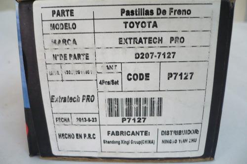 pastillas toyota hilux pick-up 87/91 cod7127