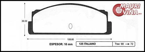 pastillas traseras fiat 125 italiano 1968-1972