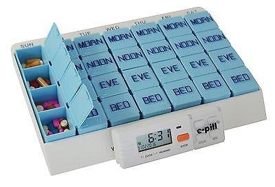 pastillero de 7 días x 4 pastillas de gran capacidad con te