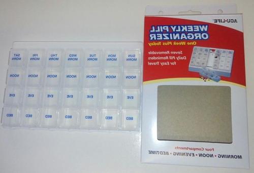 pastillero organizador de medicamentos semanal