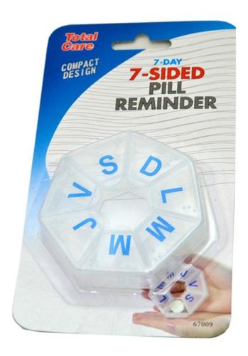 pastillero organizador pastillas hexagonal 7 dias semanal