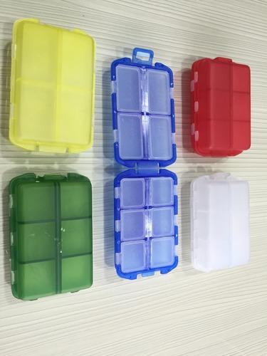 pastillero plastico 10 compartimientos, hogar o publicidad