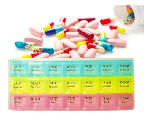 pastillero semanal 21 compartimientos envió hoy