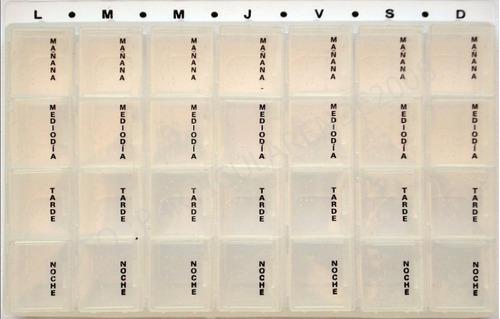pastillero semanal compartimentos removibles