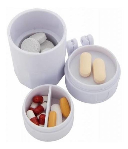pastillero,  triturador, cortador, moledor - porta pastillas