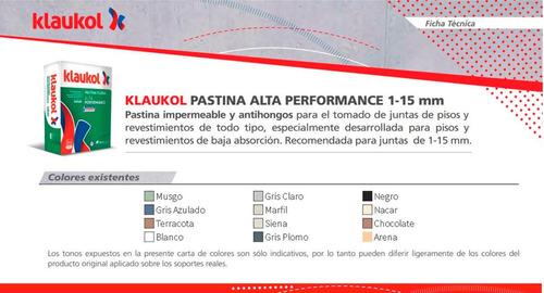 pastina alta performance para porcellanato (1kg) klaukol
