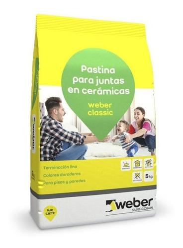 pastina weber classic x 5kg beige ceramicos