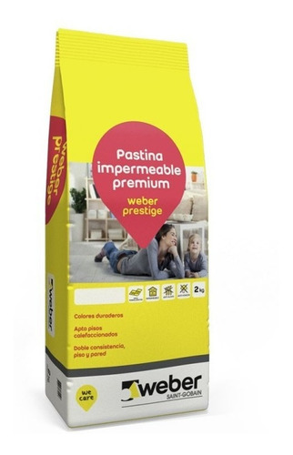 pastina weber prestige x 2kg beige porcelanato
