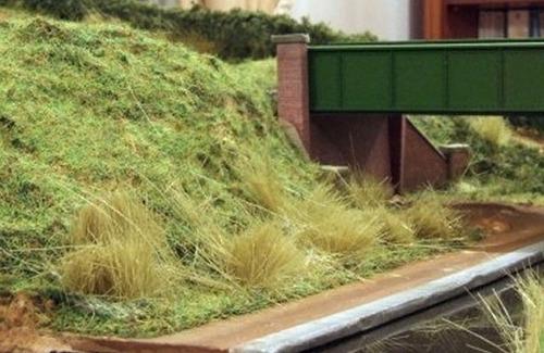 pasto field grass 171 - woodland scenics - ferromodelismo