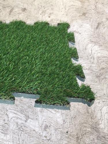 pasto sintético en módulos 1 pieza green line