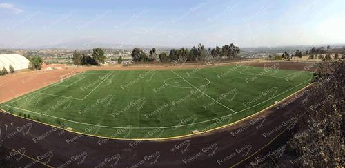 pasto sintético para canchas de fútbol, con instalación tdi