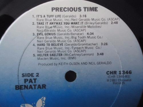 pat benatar / precious time vinyl lp acetato