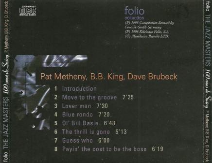 pat matheny bb king dave brubeck the jazz masters