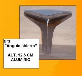 pata de aluminio espejo angulo abierto nº4 de 12 cms